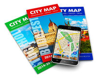 GPS navigation, travel and tourism concept Royalty Free Stock Photos
