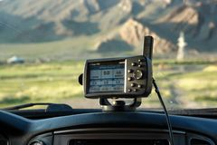 GPS navigator in car Stock Photography