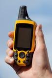 GPS Navigator in de hand Royalty-vrije Stock Foto's