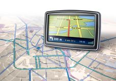 Gps Navigator Device Stock Photo