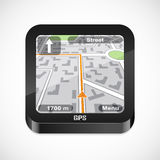 Gps navigator icon Royalty Free Stock Photos