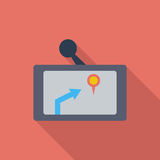 GPS navigator icon. Stock Images