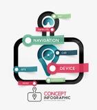 GPS navigator infographic concept Stock Image