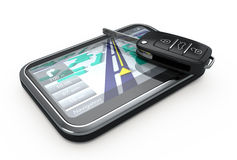 GPS Navigator and remote key Royalty Free Stock Image