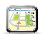 Gps navigator vector Royalty Free Stock Image