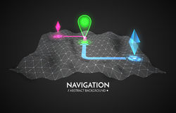 GPS navigator vector background. 3d technology vector map Stock Photography