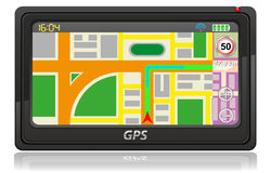 Gps navigator vector illustration Royalty Free Stock Images