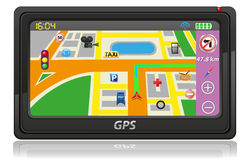 Gps navigator vector illustration Royalty Free Stock Photos
