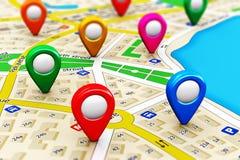 GPS navigeringbegrepp Arkivbild