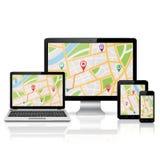 GPS navigeringbegrepp Arkivfoto