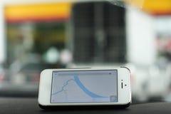 GPS nawigacja Fotografia Royalty Free