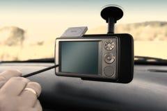 GPS - No carro Imagem de Stock