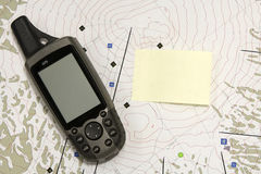 GPS and Note Royalty Free Stock Photo