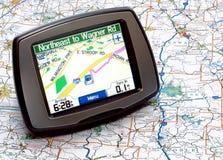 GPS oder Karte stockbild