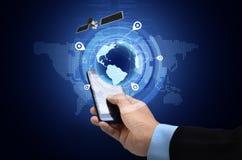 GPS på den smarta telefonen Arkivbilder