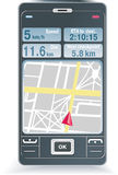 GPS on a phone Royalty Free Stock Photos