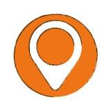 Gps pin icon image. Illustration design Royalty Free Stock Photos
