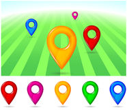 Gps pointers Stock Images