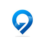 GPS position abstract logo Stock Image