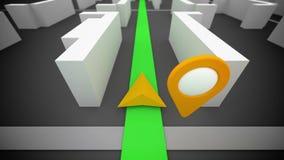 GPS-routenavigatie royalty-vrije illustratie