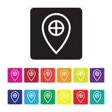 Gps services icon set. A gps services icon set Stock Image