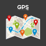 Gps signals Royalty Free Stock Images