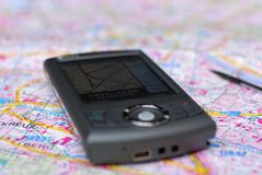 Gps smartphone. A mobile with gps built in Royalty Free Stock Image