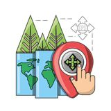 Travel and navigation design. Gps and smartphone of travel navigation and route theme Vector illustration Royalty Free Stock Photography