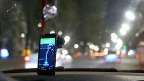 GPS som kör den taxy bilen lager videofilmer