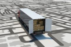 GPS-Spurhaltung und -versand Wiedergabe 3d vektor abbildung