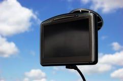GPS sulla finestra di automobile Fotografia Stock