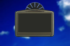 GPS sulla finestra di automobile Immagine Stock