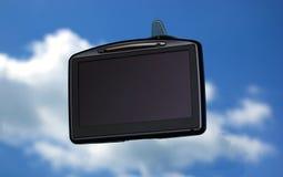 GPS sulla finestra di automobile Immagini Stock