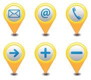 Gps-symboler Arkivfoto