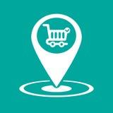 Gps-symbolsmarknad Fotografering för Bildbyråer