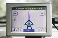 GPS system Stock Images