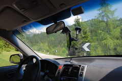 Gps system navigation in car Stock Photography