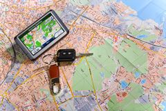 gps system nawigacji Obrazy Royalty Free