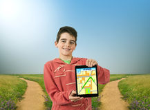 Gps in the tablet Stock Photography