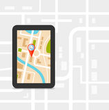 GPS technology laying of a route travel, tourism navigation Royalty Free Stock Images