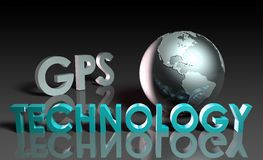 gps-teknologi stock illustrationer
