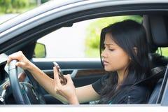 GPS trabalho ou mensagem de texto má Imagens de Stock Royalty Free