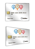 Gps tracked credit card design Stock Image