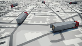 GPS tracking. 3D Rendering Stock Photo