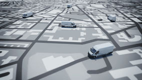 GPS tracking stock illustration