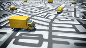 GPS tracking Stock Images