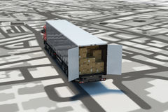 GPS tracking and shipment. 3D Rendering Royalty Free Stock Photo