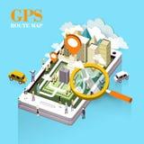 GPS trasy mapy pojęcie Zdjęcie Royalty Free
