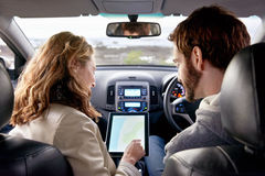 Gps travel car Royalty Free Stock Photography