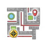 Travel and navigation design. Gps of travel navigation and route theme Vector illustration Stock Image